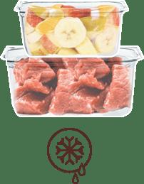 Kühlbox mit frischen BARF Produkten